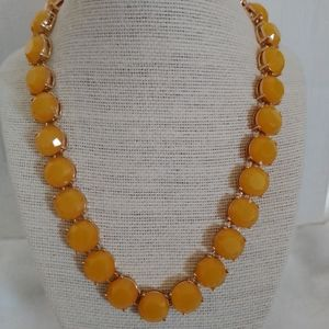 J. Crew Gold Tone Yellow Collar Necklace NWOT